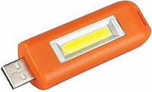 Taschenlampe Outdoor LED 18650,Weant Handlampe LED Mini USB Wiederaufladbare Schlüsselanhänger Taschenlampe lampe Flash cob Tasche licht 3modes Camping Handlampe Wandern Camping Lampe Aussenleuchte (Orange)