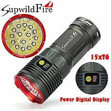 Taschenlampe Supwildfire 50000LM 15 x XM-L T6 LED