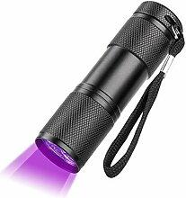 Taschenlampe, tragbar, Mini-LED, Aluminium, 9