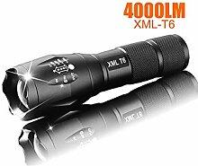 Taschenlampe, wiederaufladbar, LED, T6, 4000