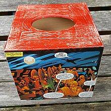 Taschentuchbox aus Holz, Spender Vintage, Marvel Hero, Comic Design, Home & Office Dekoration, Freund Geschenk, Student Schüler Geburtstag Geschenk