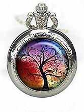 Taschenuhr, Baum des Lebens aus Glas, Baum des