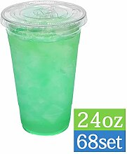 TashiBox Einwegbecher für kalte Getränke, 680