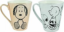Tasse 2er Set Snoopy gold/silber Edition