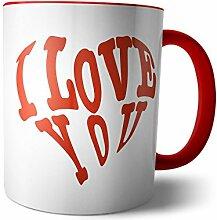 Tasse 'Ich liebe dich' Valentinstag / Herz