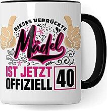 Tasse 40. Geburtstag Frau | Kaffeetasse 40