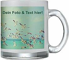 Tasse aus satiniertem Glas mit persönlichem Foto