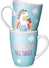 Tasse, Becher EINHORN DES TAGES für 250ml Geschenk für dich la vida (7,95 EUR / Stück)