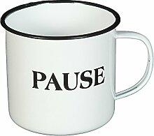 Tasse Becher Emailletasse Kaffeetasse Teetasse