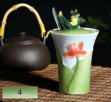 Tasse Becher Geschenk 300Cc Porzellan Frosch Lotus
