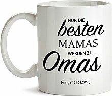 Tasse – Beförderung zur Oma - Geschenke für Omas - Geschenkideen Geburtstag Weihnachten für Oma – Personalisiert mit [Namen] und [Datum] - Oma und Opa Geschenke - Oma Geschenk Ideen