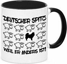 Tasse BLACK SHEEP - DEUTSCHER SPITZ - Hunde Fun