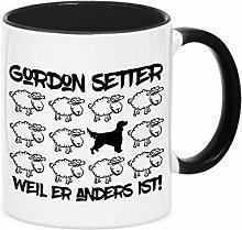Tasse BLACK SHEEP - GORDON SETTER - Hunde Fun