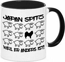 Tasse BLACK SHEEP - JAPAN SPITZ - Hunde Fun Schaf