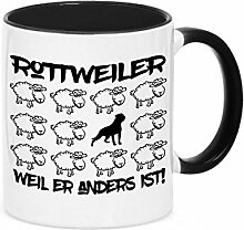 Tasse BLACK SHEEP - ROTTWEILER - Hunde Fun Schaf