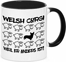 Tasse BLACK SHEEP - WELSH CORGI - Hunde Fun Schaf