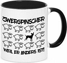 Tasse BLACK SHEEP - ZWERGPINSCHER Pinscher - Hunde