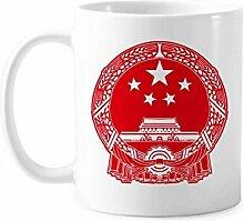 Tasse, chinesisches Nationalemblem, rotes Symbol,