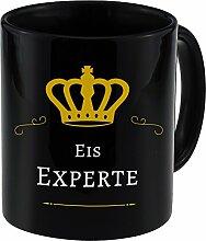 Tasse Eis Experte schwarz