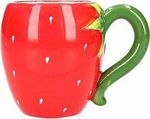 Tasse Erdbeere Becher Rot Kaffeebecher