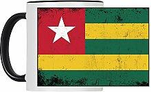 Tasse Fahne Retro Togo weiß