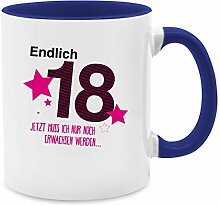Tasse Geburtstag - Endlich 18 - Unisize -