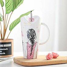 Tasse Geschenk Kaffee Nettes Mädchen Keramik