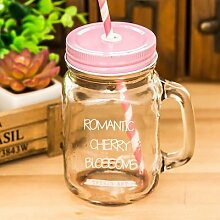 Tasse Geschenk Kaffeebecher 450Ml Bunte Glas