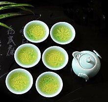 Tasse Geschenk Kaffeebecher Celadon Porzellan