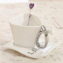 Tasse Geschenk Kaffeebecher Design Liebesform
