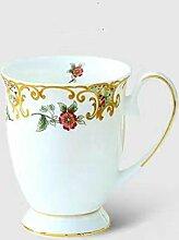Tasse Geschenk Kaffeebecher Europa Kamelie Knochen