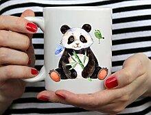 Tasse Geschenk Kaffeebecher Panda Tassen Reise