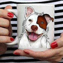 Tasse Geschenk Kaffeebecher Pit Bull Tassen Reise
