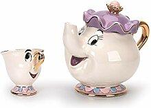 Tasse Geschenk Kaffeebecher Weiß/Blau Cartoon