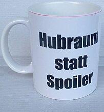 Tasse Hubraum statt Spoiler - Kaffeetasse, Becher,