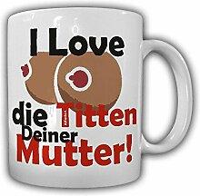 Tasse I Love Titten Humor die deiner Mutter Tasse Cup BH Anime Junggeselle Junggesellenabschied#21557