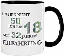 Tasse - Ich Bin Nicht 50 (Streifen-Design):
