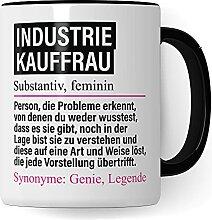 Tasse Industriekauffrau lustig, Industrie Kauffrau