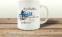 Tasse Kaffeebecher DIE Besten Angler Mai Hobby