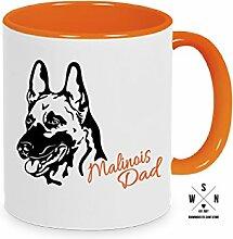 Tasse Kaffeebecher MALINOIS DAD Hund Hunde fun