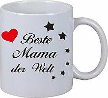 Tasse Kaffeebecher Tasse Beste Mama der Welt Geschenk Mutter Weihnachten