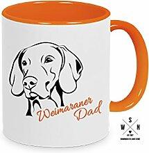 Tasse Kaffeebecher WEIMARANER DAD Hund Hunde fun