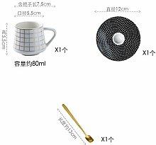 Tasse Kaffeetassen Geschenk Keramik Mini 80 Ml
