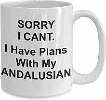 Tasse mit andalusischem Pferd, Geschenk für