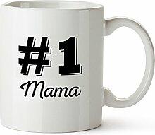 Tasse mit Aufdruck – #1 Mama Standard –