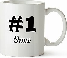 Tasse mit Aufdruck – #1 Oma Standard –