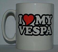 """Tasse mit Aufschrift """"I Love/Heart My Vespa"""","""