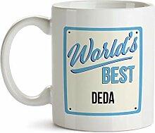 """Tasse mit Aufschrift """"World's Best Deda"""""""
