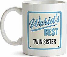 """Tasse mit Aufschrift """"World's Best Twin"""