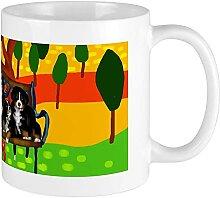 Tasse mit Berner Sennenhund, 400 ml, mikrowellen-